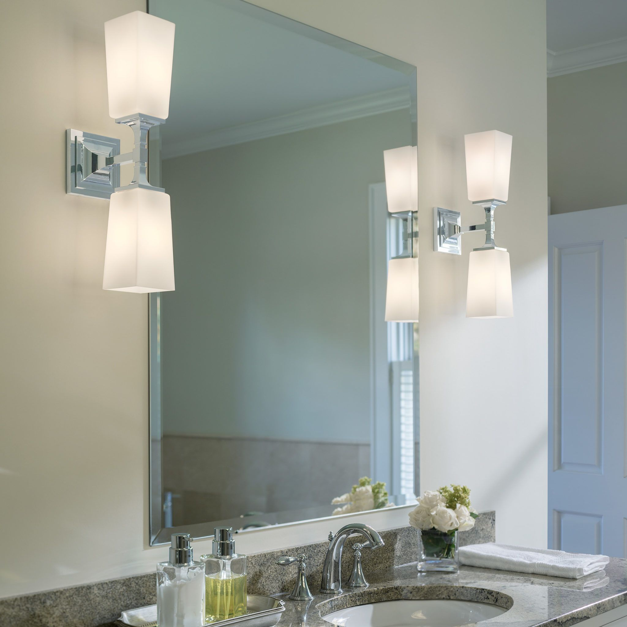 Best Height For Your Bathroom Wall Sconce I Capitol Lighting In 2021 Bathroom Wall Sconces Bathroom Sconces Modern Bathroom Vanity Lighting