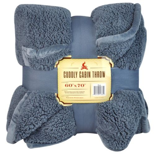 Charmant Extra Plush Cuddly Sherpa Cabin Throw Blanket 60 X 70 Different Colors High  Pile