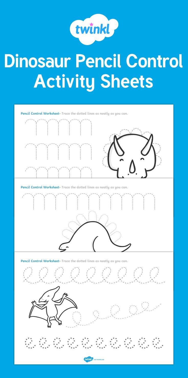 Dinosaur Pencil Control Worksheets Writing Activities For Preschoolers Writing Activities Dinosaur Activities [ 1476 x 735 Pixel ]