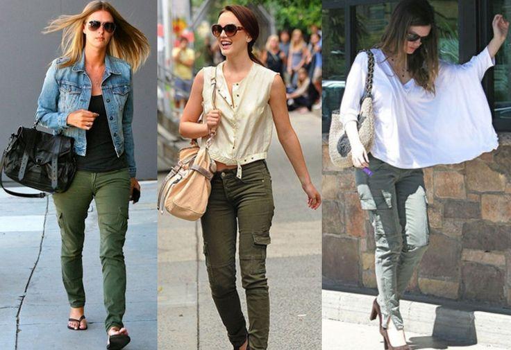 Resultado De Imagen Para Como Combinar Pantalon Verde Militar Mujer Pantalon Verde Militar Mujer Combinar Pantalon Verde Pantalones Verdes Militares