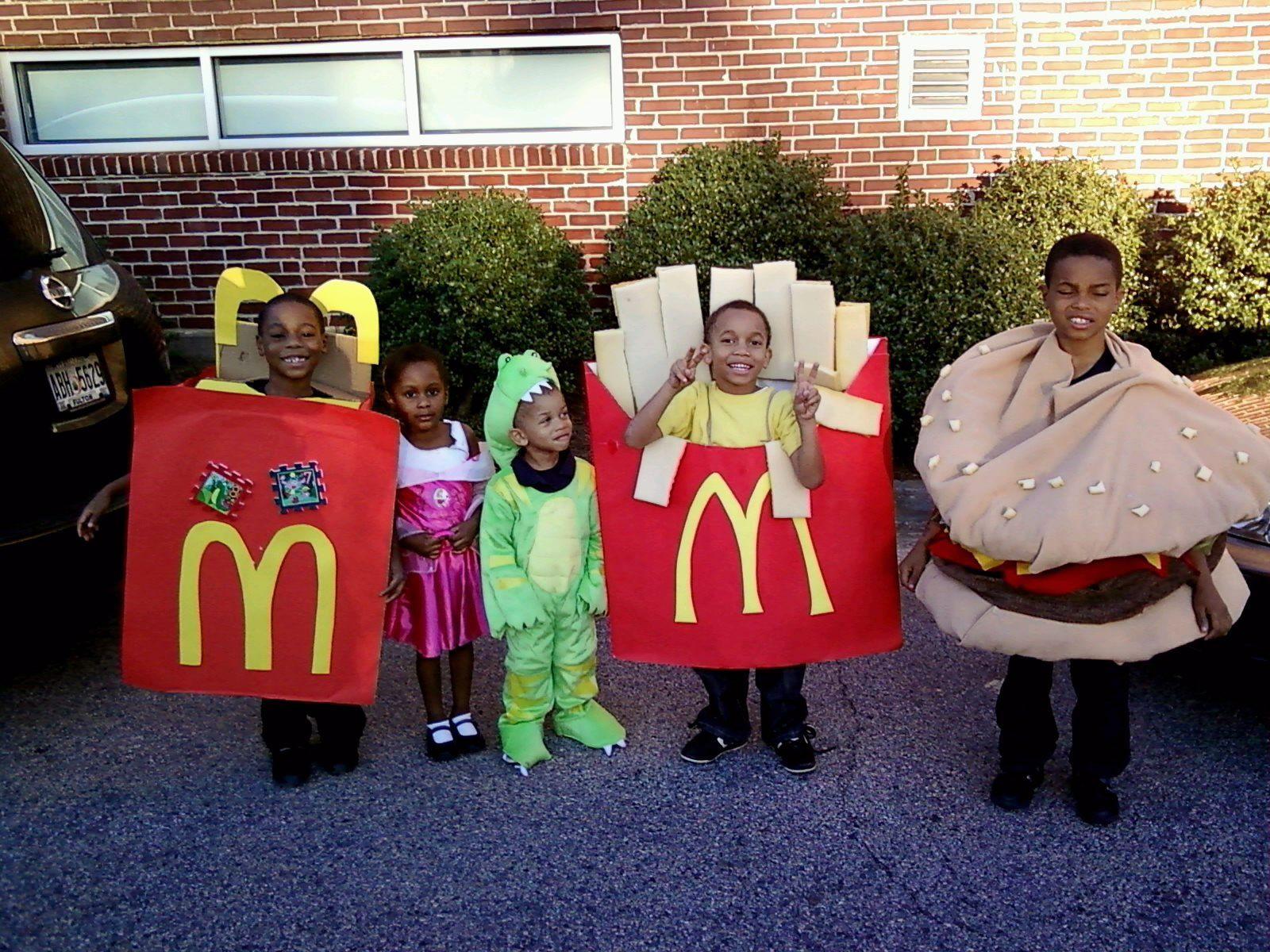 Mcdonalds Hamburger Happy Meal Food Halloween Costumes