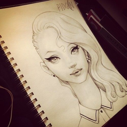 Drawing Of Girl Very Cool And Creative D R A W I N G