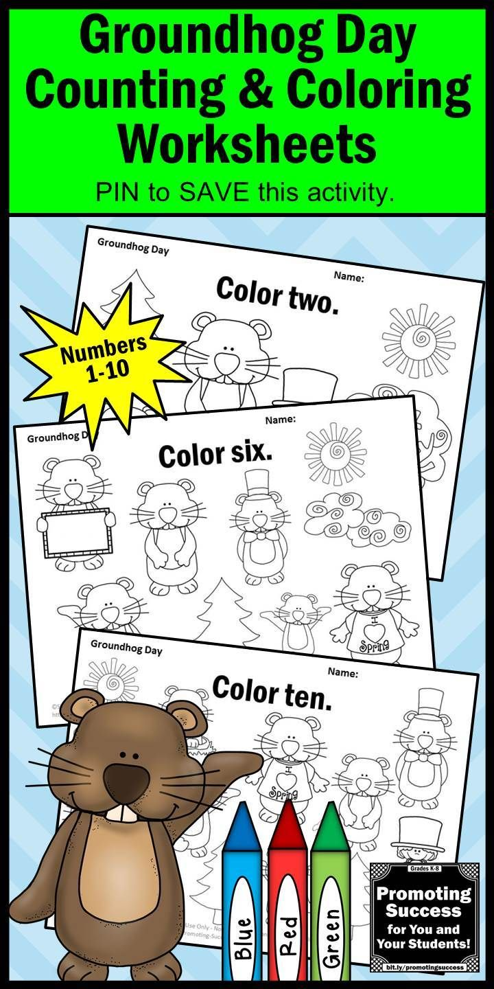Groundhog Day Coloring Pages For Kids Preschool Kindergarten And Special Education Stude Groundhog Day Activities Kindergarten Math Activities Groundhog Day [ 1440 x 720 Pixel ]