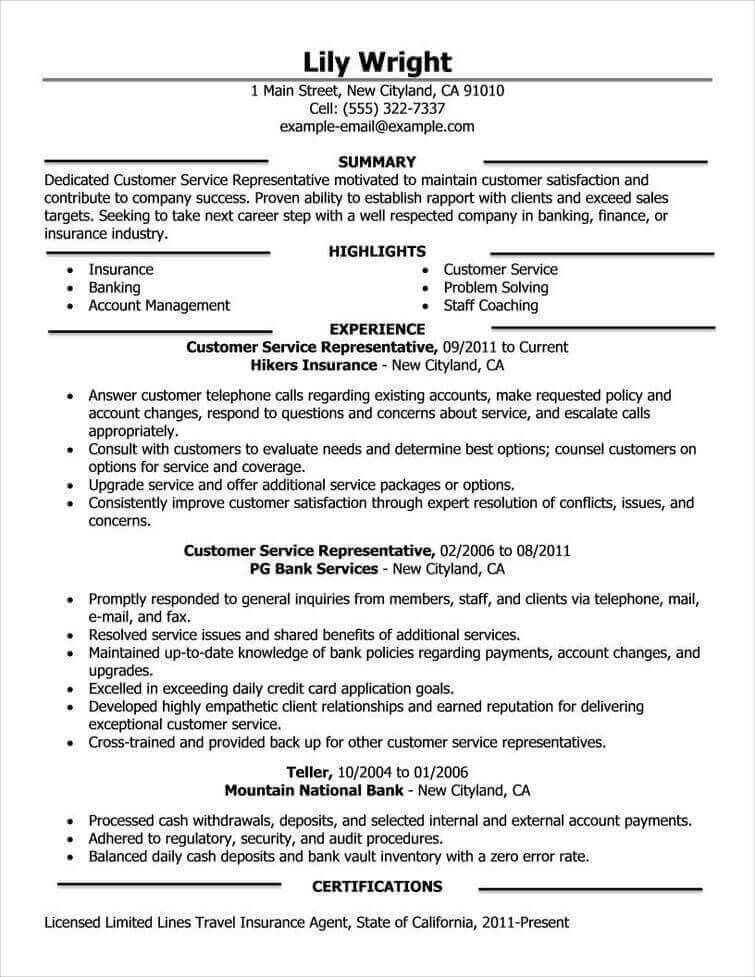 79 Unique Photos Of Resume Objective Examples For Insurance