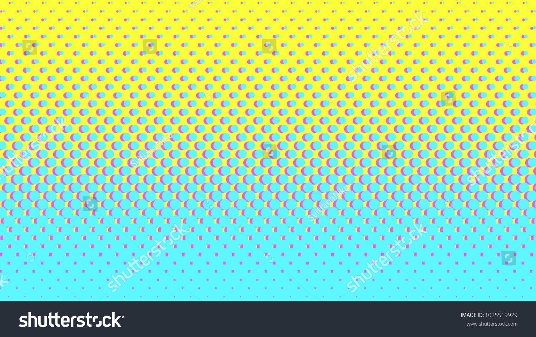 Halftone gradient pattern vertical vector illustration  Blue