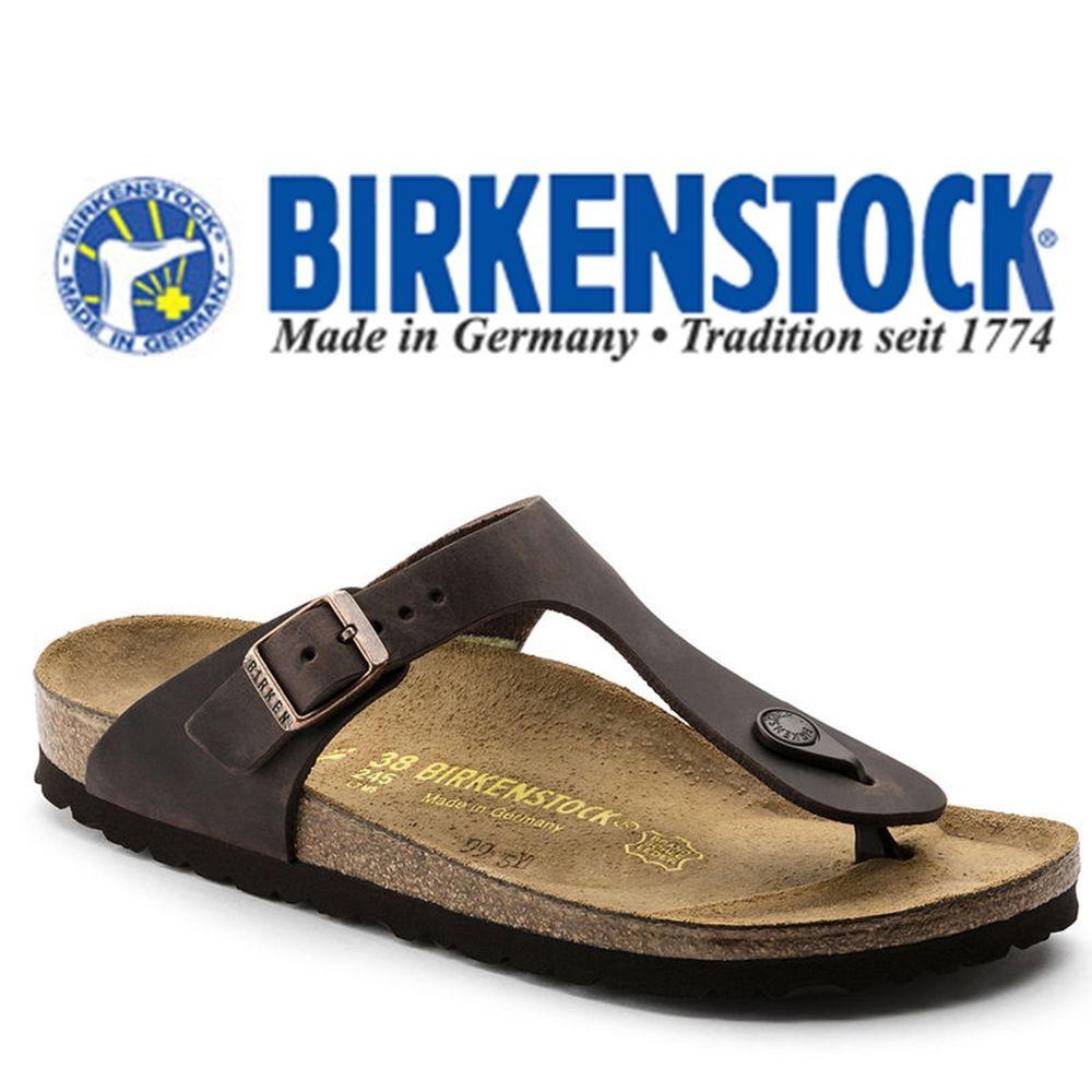 8054a91bfeb BIRKENSTOCK Gizeh Oiled Leather Habana 743833 Narrow Sandals  Birkenstock   FlipFlops