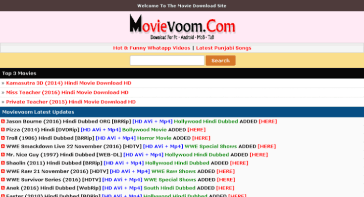 Movievoom 2020: Download Any Movie For Free in 2020   Download ...