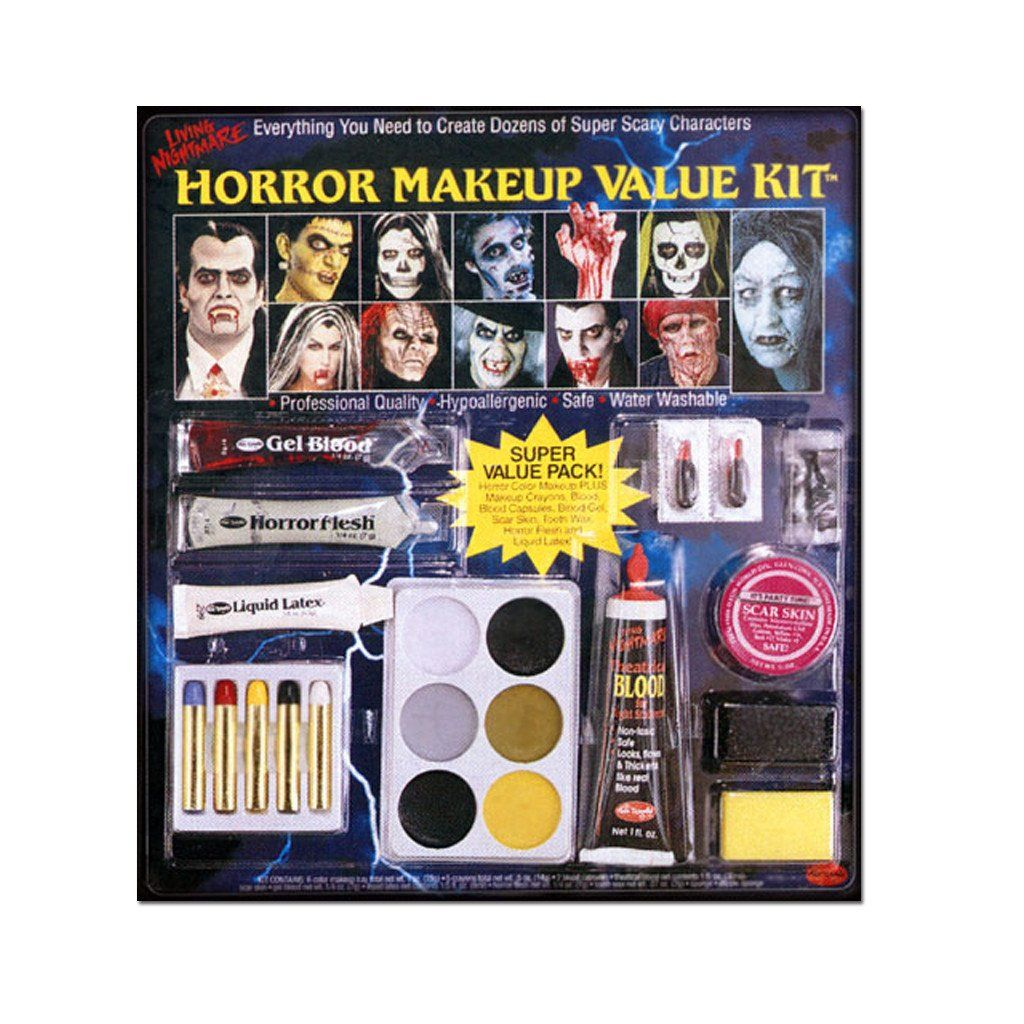 Horror Value Halloween Makeup Kit | Halloween makeup kits, Makeup ...