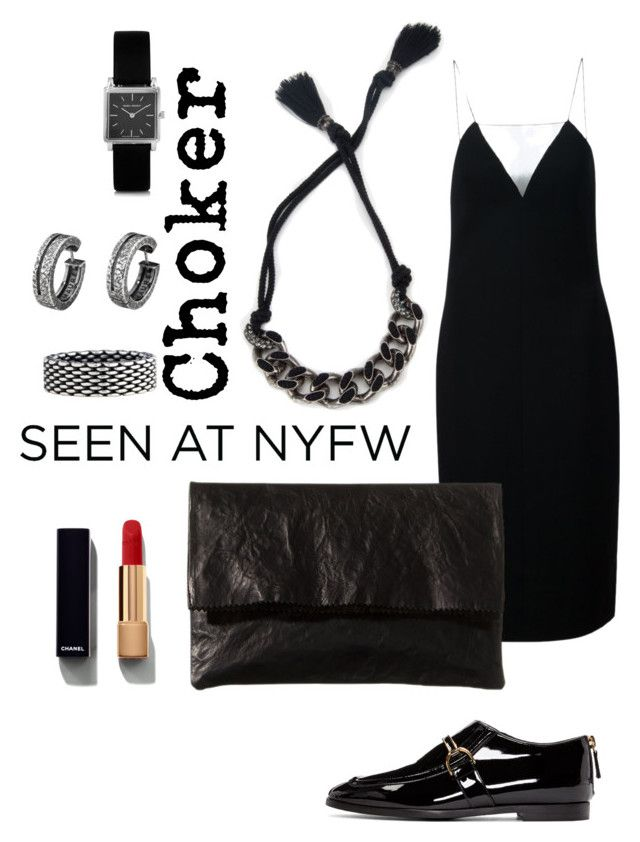 """""""Choker + LBD"""" by lomozui ❤ liked on Polyvore featuring Lanvin, Alexander Wang, Tiffany & Co., Isabel Marant, Chanel, STELLA McCARTNEY and Zilla"""