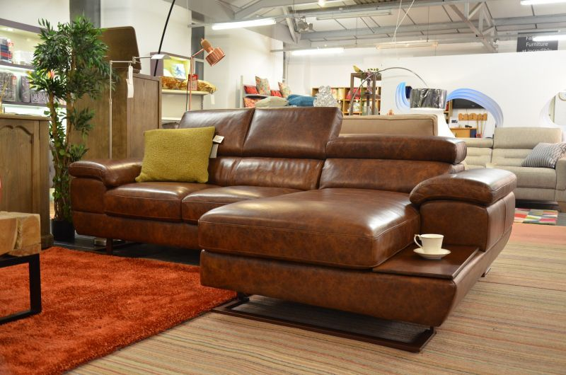 Feroce Luxury Italian Leather Chaise Sofa At Worthington Brougham Furniture In Lancashire Leather Corner Sofa Chaise Sofa