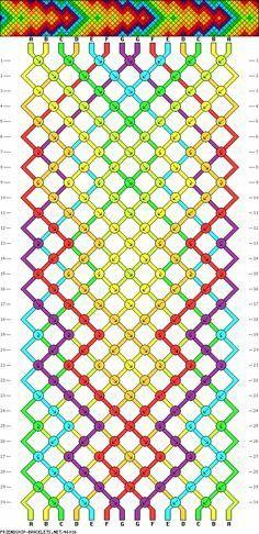 Tribal Arrowhead Friendship Bracelet Pattern