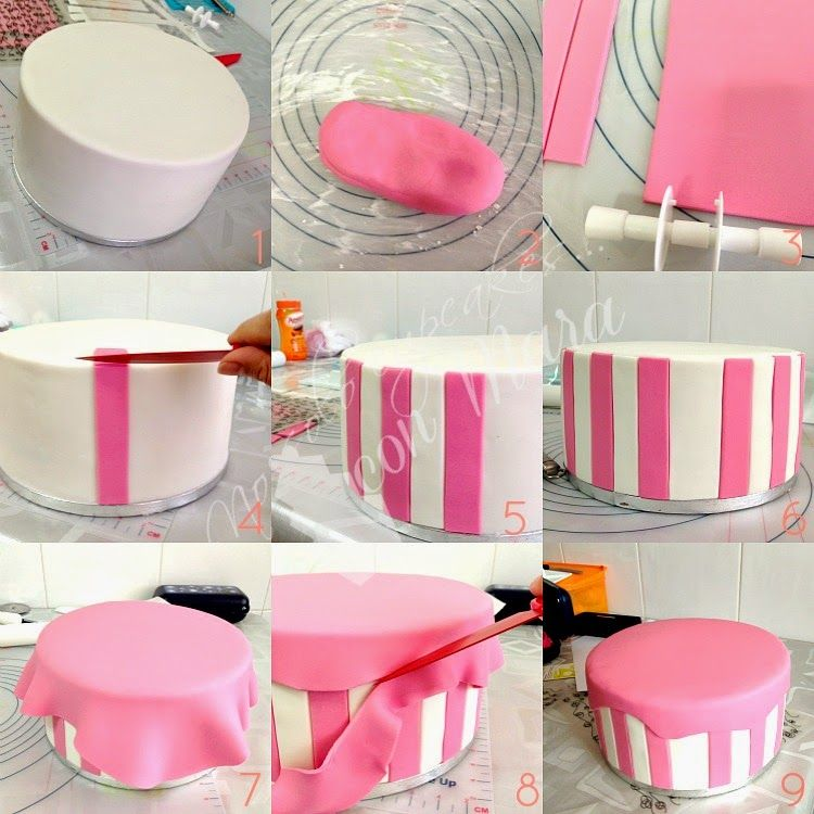 Tarta hello kitty como decorar tartas redondas con for Decoracion para decorar