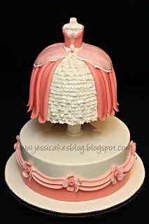 Jessicakes: A Princess Dress Form Cake