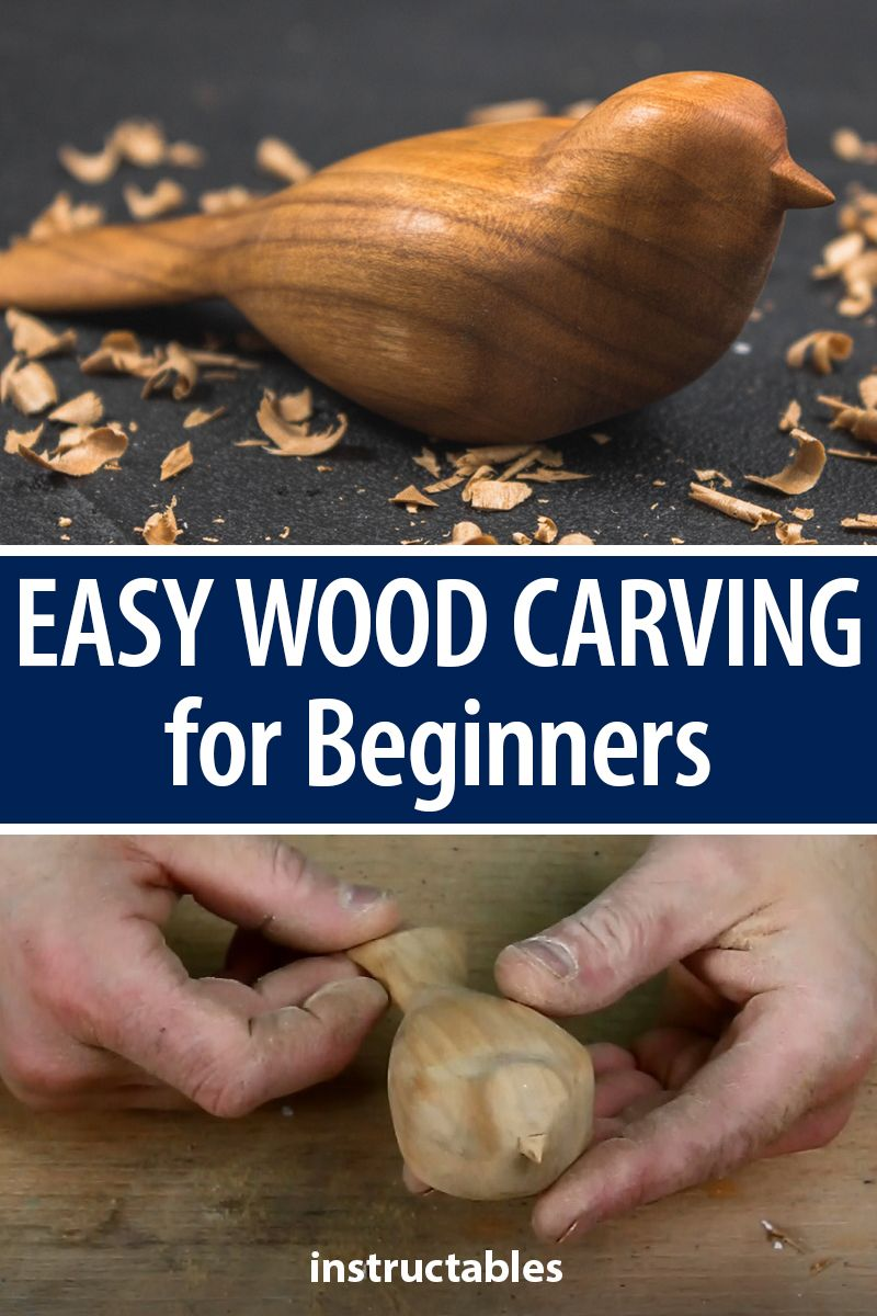 Make a comfort birdie to learn easy wood carving for beginners. #Instructables #workshop #woodshop #woodworking #woodart #woodcarving