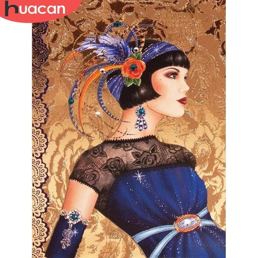 5D Diamond Painting Blue Feather Flapper Kit in 2020 Art