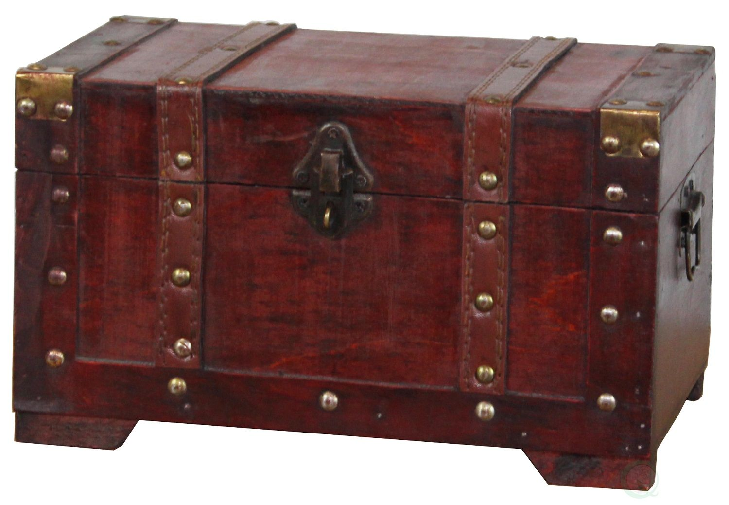 Antique Style Wooden Small Trunk Walmart Com In 2020 Wooden Trunks Antique Style Trunks