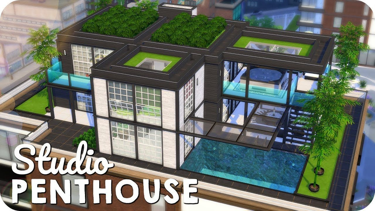 Fashion Studio Penthouse Sims 4 Moschino Speed Build Sims House Design Sims 4 Penthouse Sims 4 Modern House