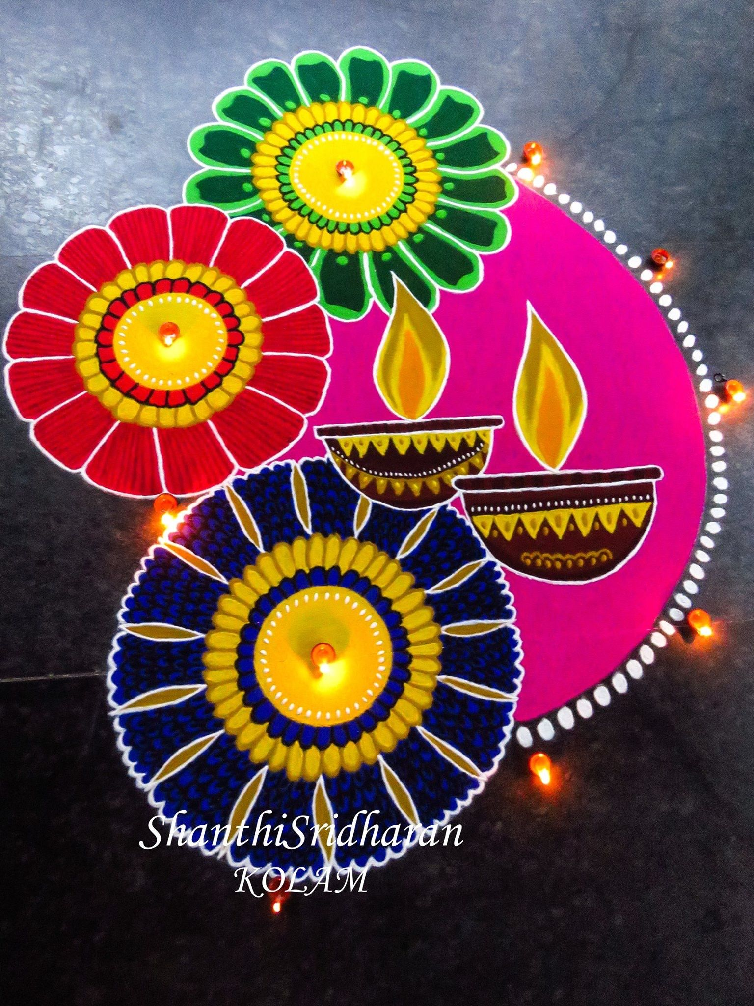 Rangoli Designs For Diwali 2019 Watercolor
