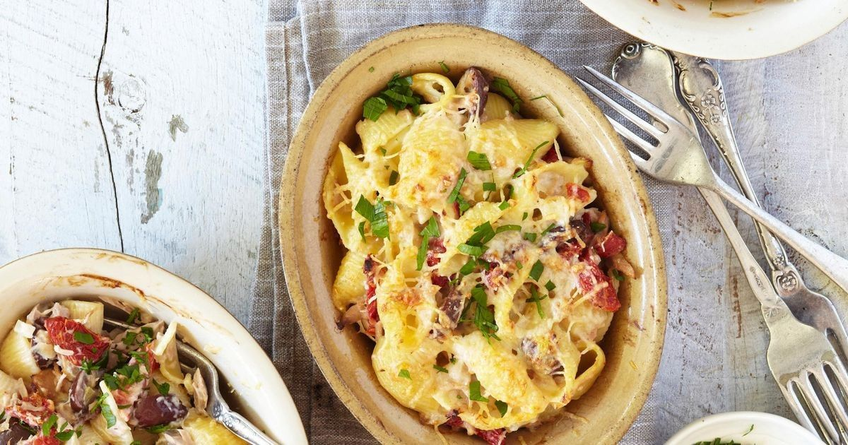 This delicious tuna mornay bake is a no-fuss favorite that takes only half an hour to make.