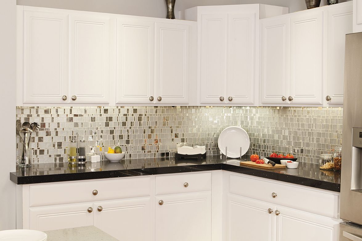 Winsome Mosaic Tiles Kitchen Backsplash Are Installed Kitchen
