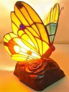 Lampara Velador Mariposa Tiffany
