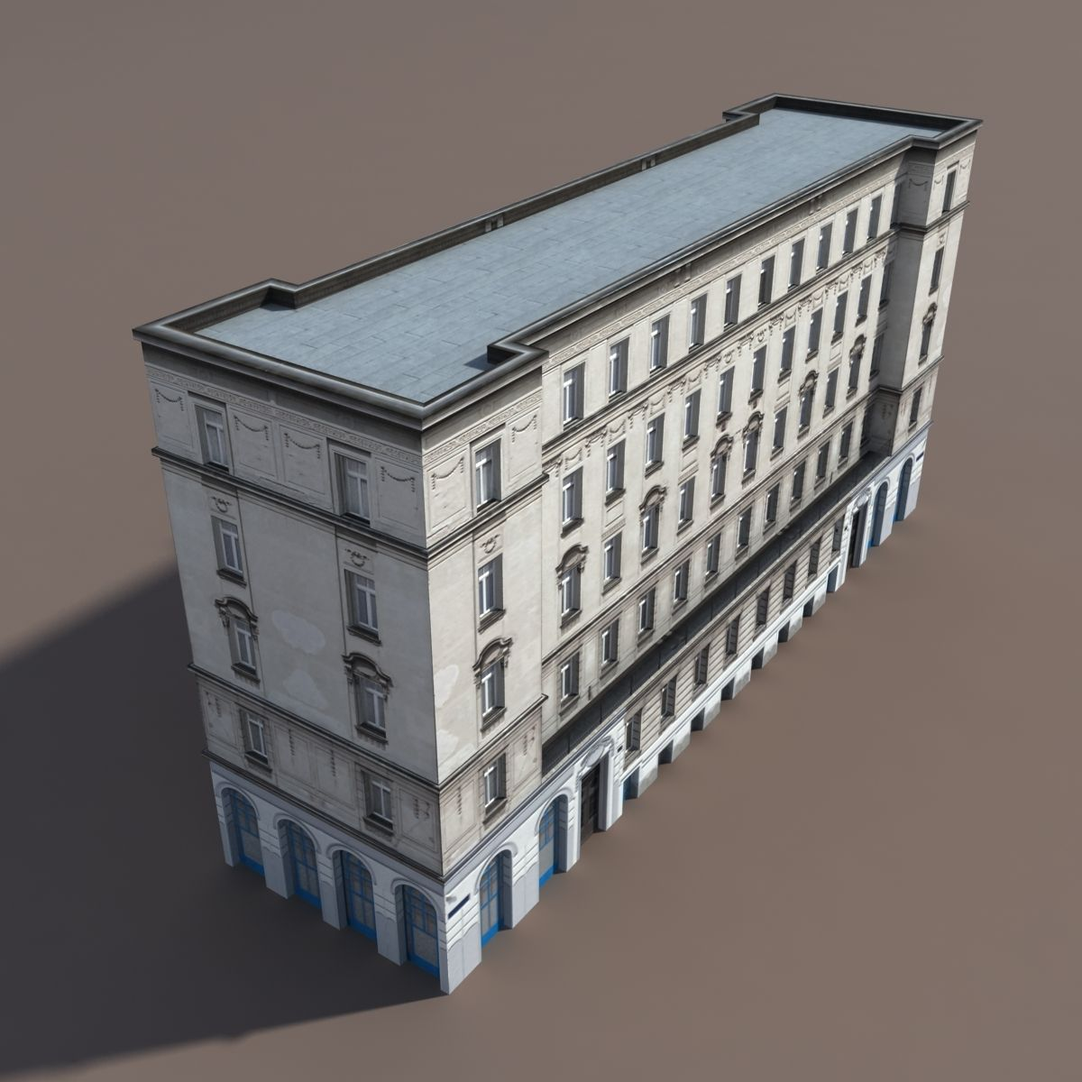 Apartment House 117 Low Poly 3d Model Low poly 3d