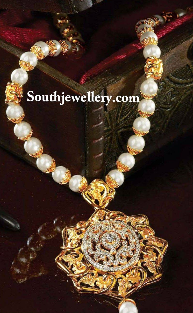 south sea pearls string with cz pendan