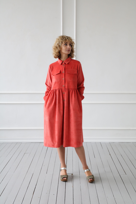 Corduroy Shirt Dress Cotton Dress Needlecord Button Down Etsy Corduroy Shirt Dress Womens Linen Clothing Shirt Dress [ 6000 x 4000 Pixel ]