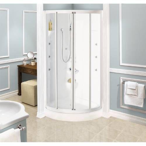 maax breeze 33 x 33 x 84 2 piece corner regular shower enclosure