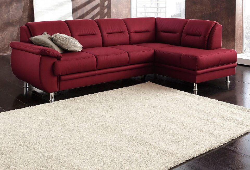 sit\more Ecksofa rot, Ottomane rechts, FSC®-zertifiziert Jetzt - wohnzimmer beige rot