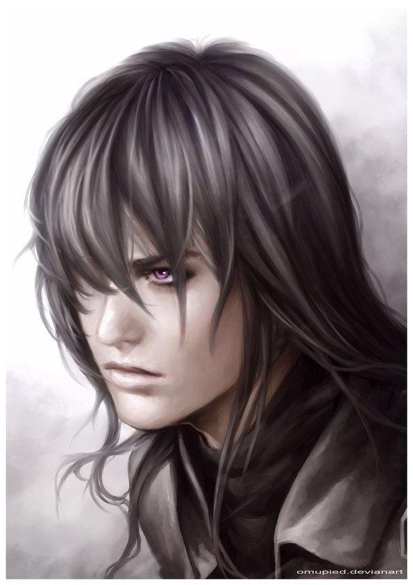 Black Hair And Pale Purple Eyes Fantasy Art Men Fantasy Art Women Fantasy Artwork
