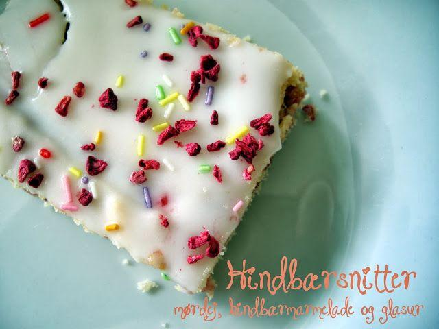 Hindbærsnitter // Raspberry shortcrust cake