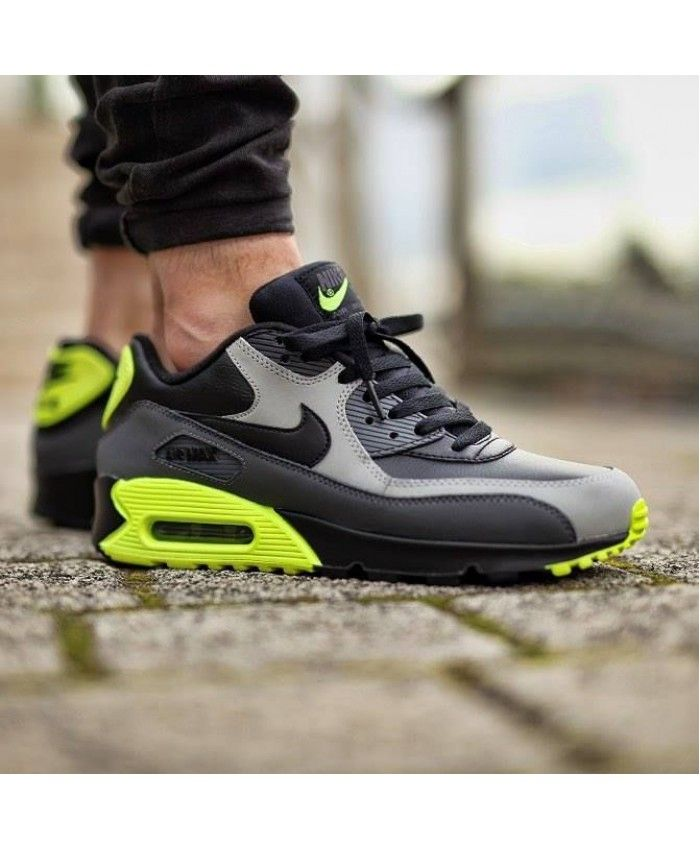 lowest price 7266d bdfcb Air Max 90 Leather Deep Grey Green Trainer