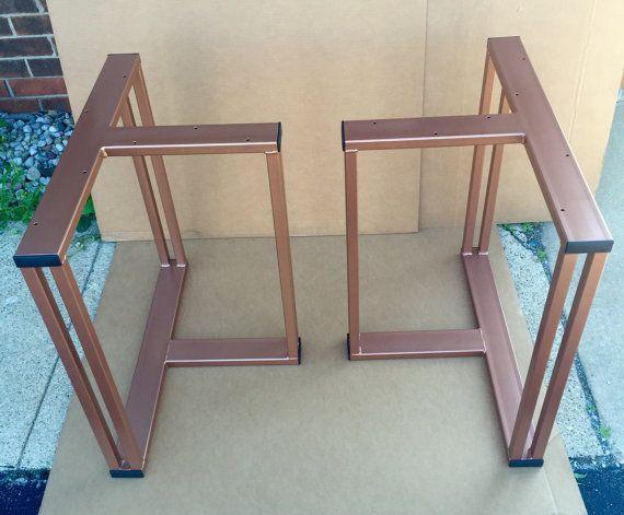 Diseño de patas de mesa de comedor juego de 2 patas de acero