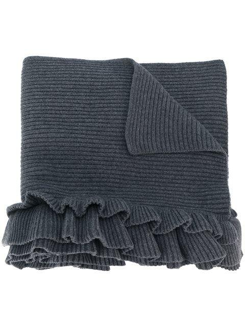 STELLA MCCARTNEY frilled layer scarf. #stellamccartney #荷叶边围巾