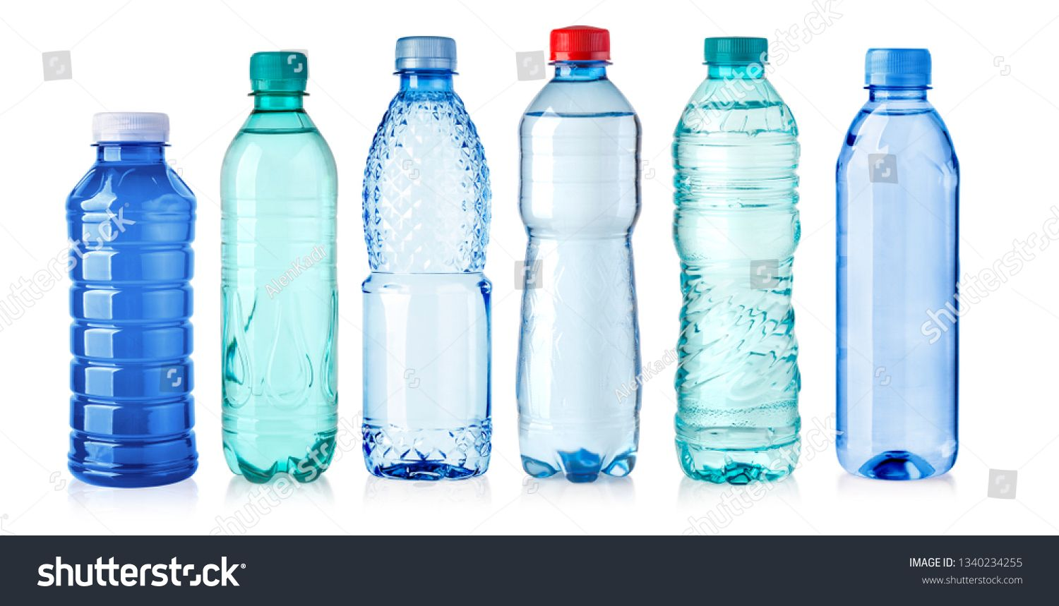 Plastic Bottle Of Water Isolated On A White Background Sponsored