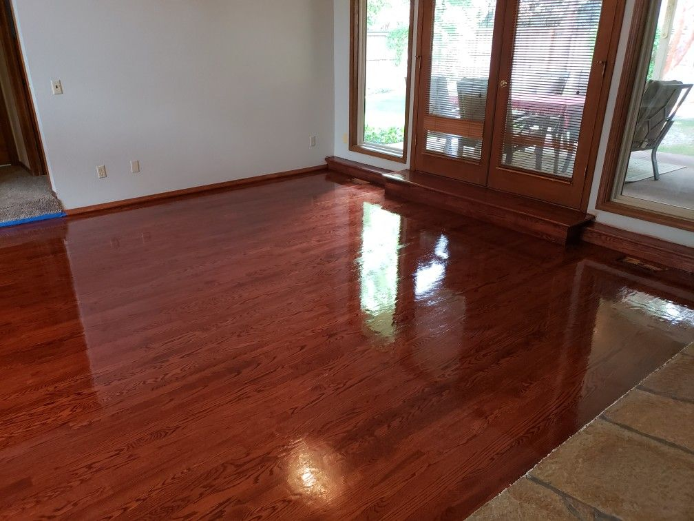 Stained duraseal sedona red Red oak floors, Flooring
