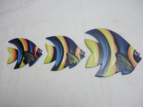 Trio de peixe P. - Madeira