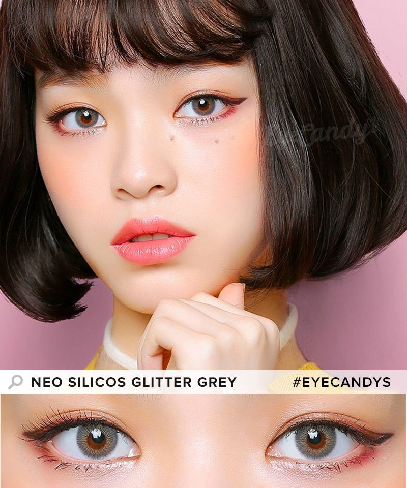 neo silicos glitter grey a touch of sparkle to your eyes is all you