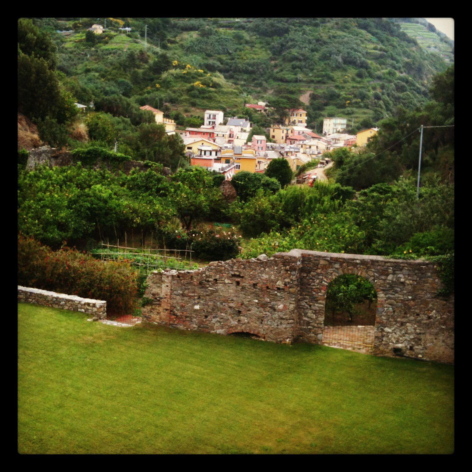 Ancient defence walls surrounding wedding venue, Buranco