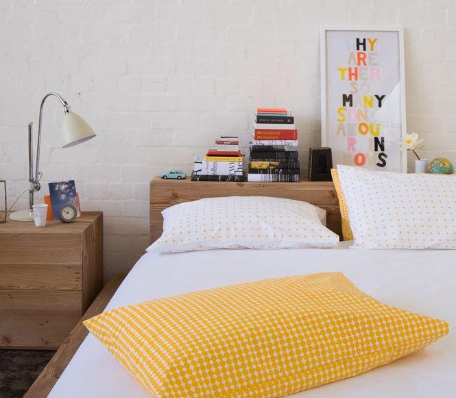 Farbenfrohes für Haus und Schloß von Castle in der Form von Bettwäsche, Kissenbezügen und Kunstwerken. Tatsächlich handelt es sich bei dem Firmen