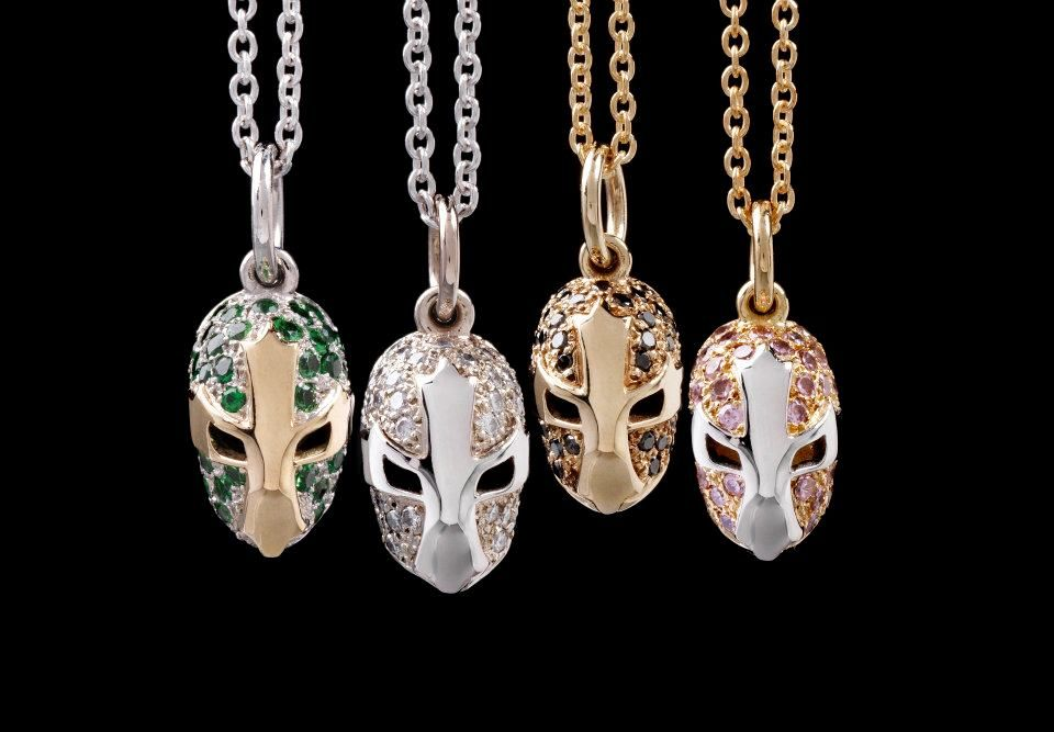 Pendants in gold and diamonds inspired by mexican wrestling masks pendants in gold and diamonds inspired by mexican wrestling masks aloadofball Image collections