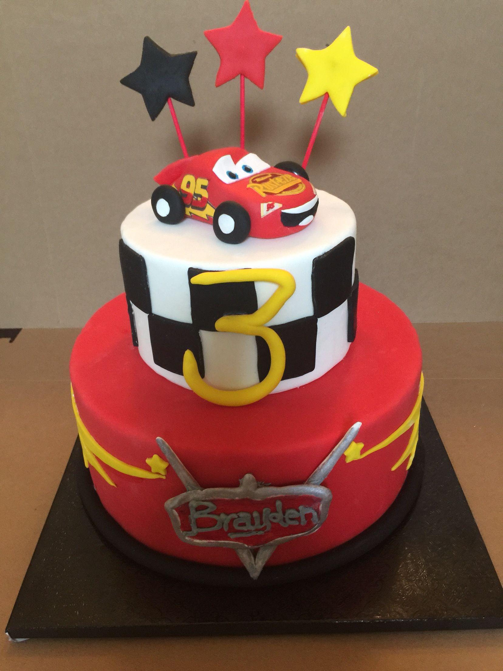 Cars Lighting McQueen cake in 2019 | Lightning mcqueen ...