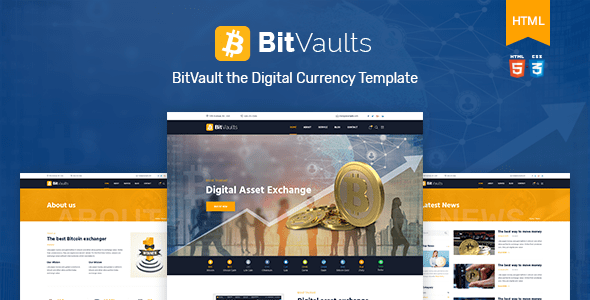 bitvaults bitcoin and cryptocurrency html template by. Black Bedroom Furniture Sets. Home Design Ideas