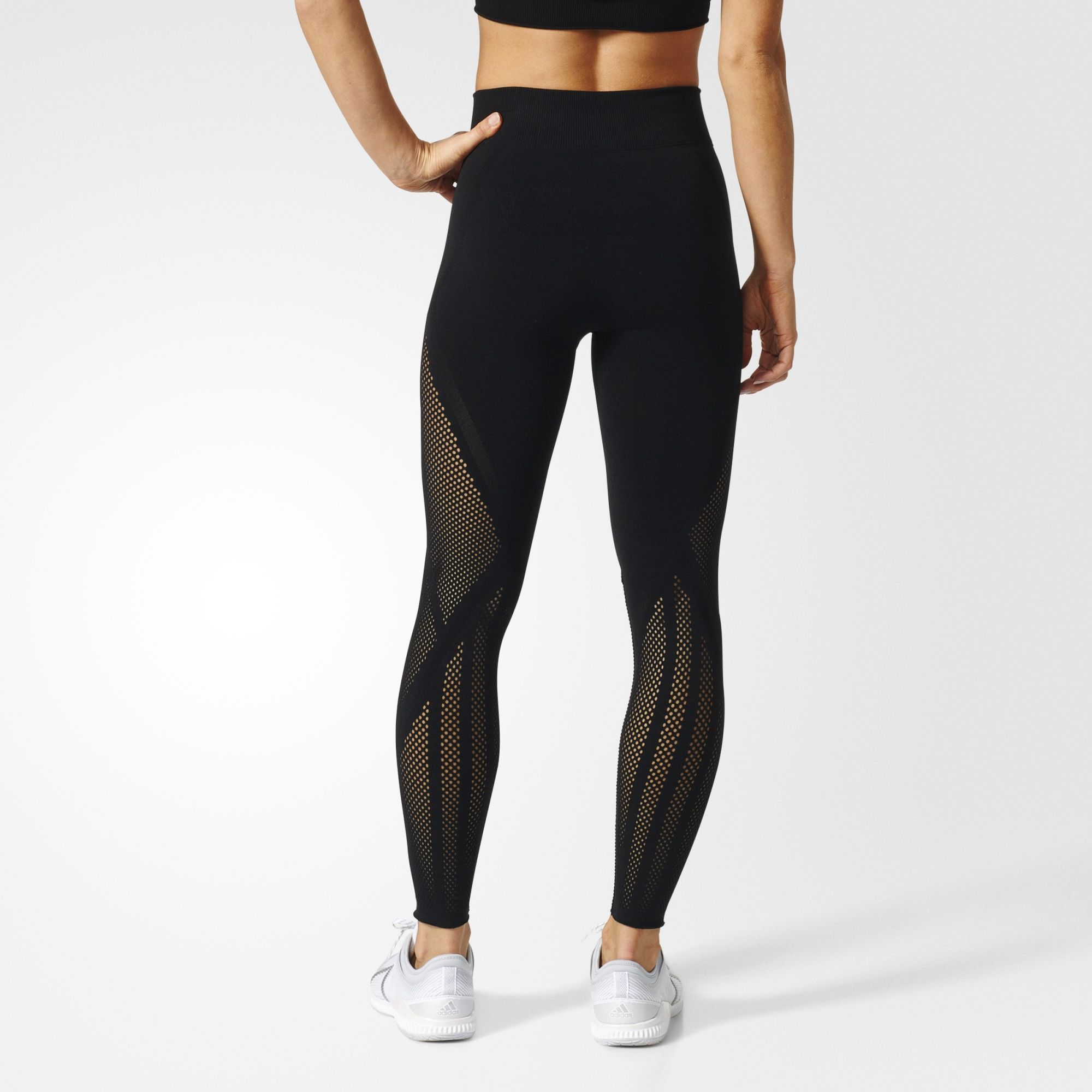 f51865d5eb2dbd Warp Knit Tights | GYM CLOTHES | Tights, Adidas, Black tights
