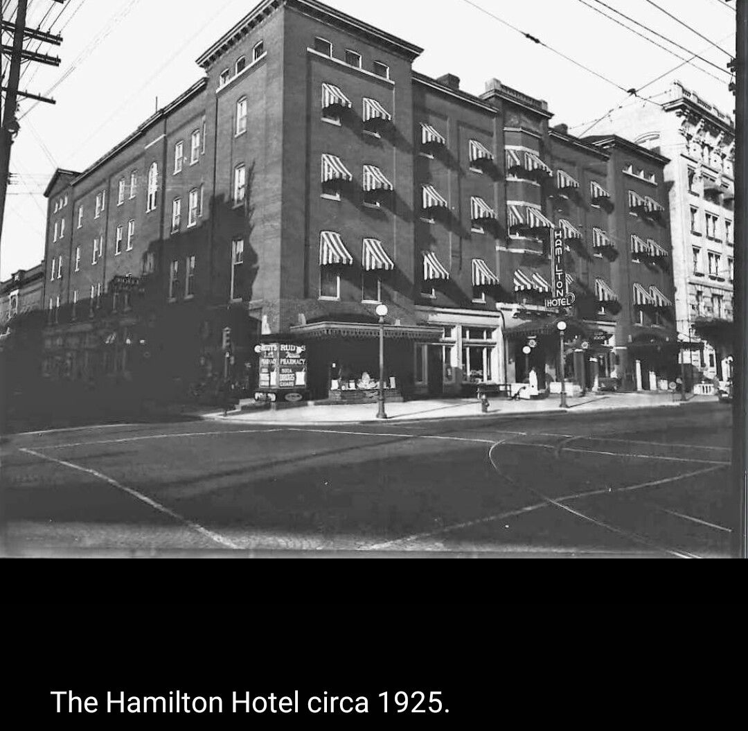 hamilton hotel 1925 hagerstown history pinterest maryland. Black Bedroom Furniture Sets. Home Design Ideas