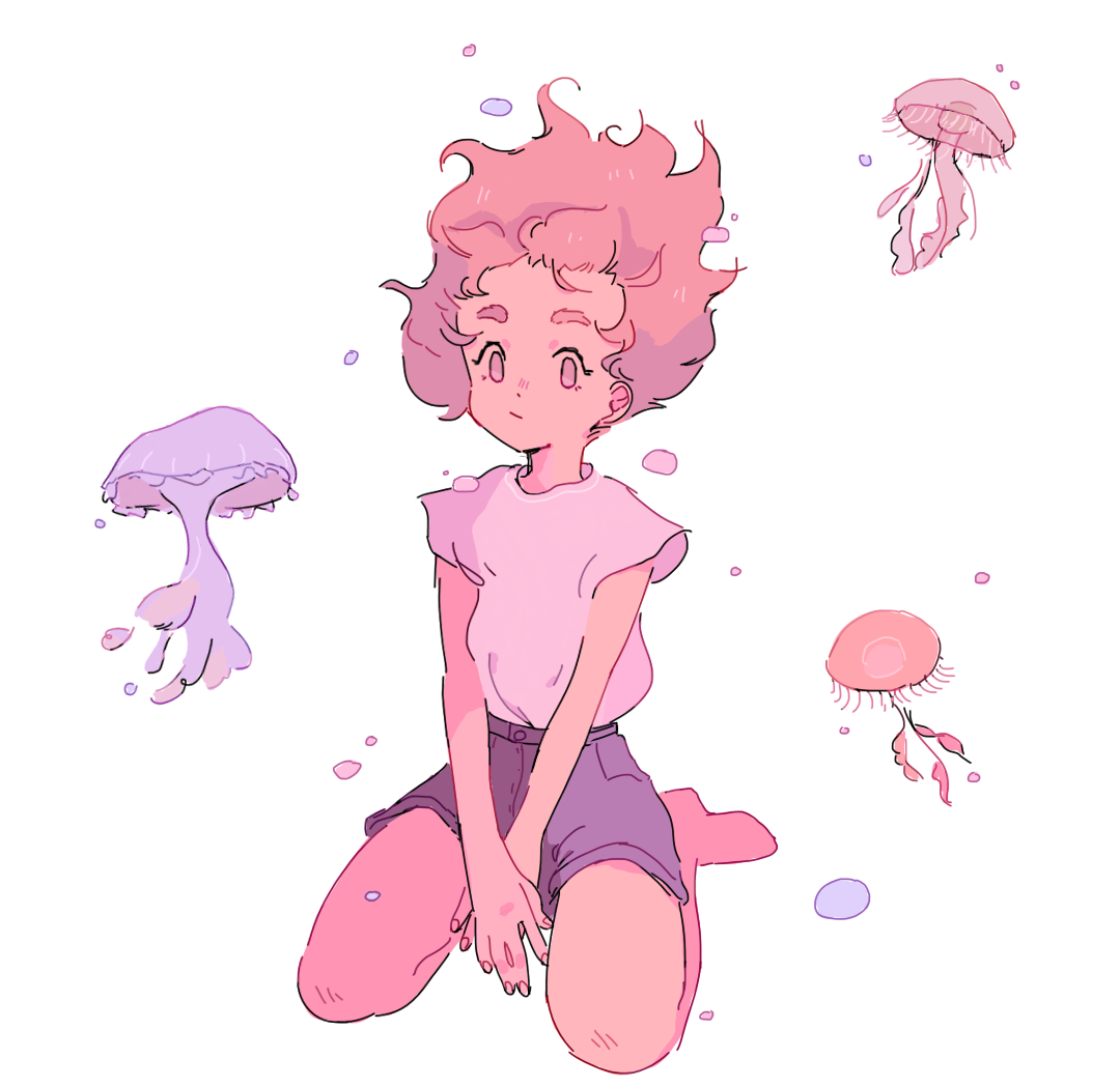 Female child mythical reference Cute art, Character art