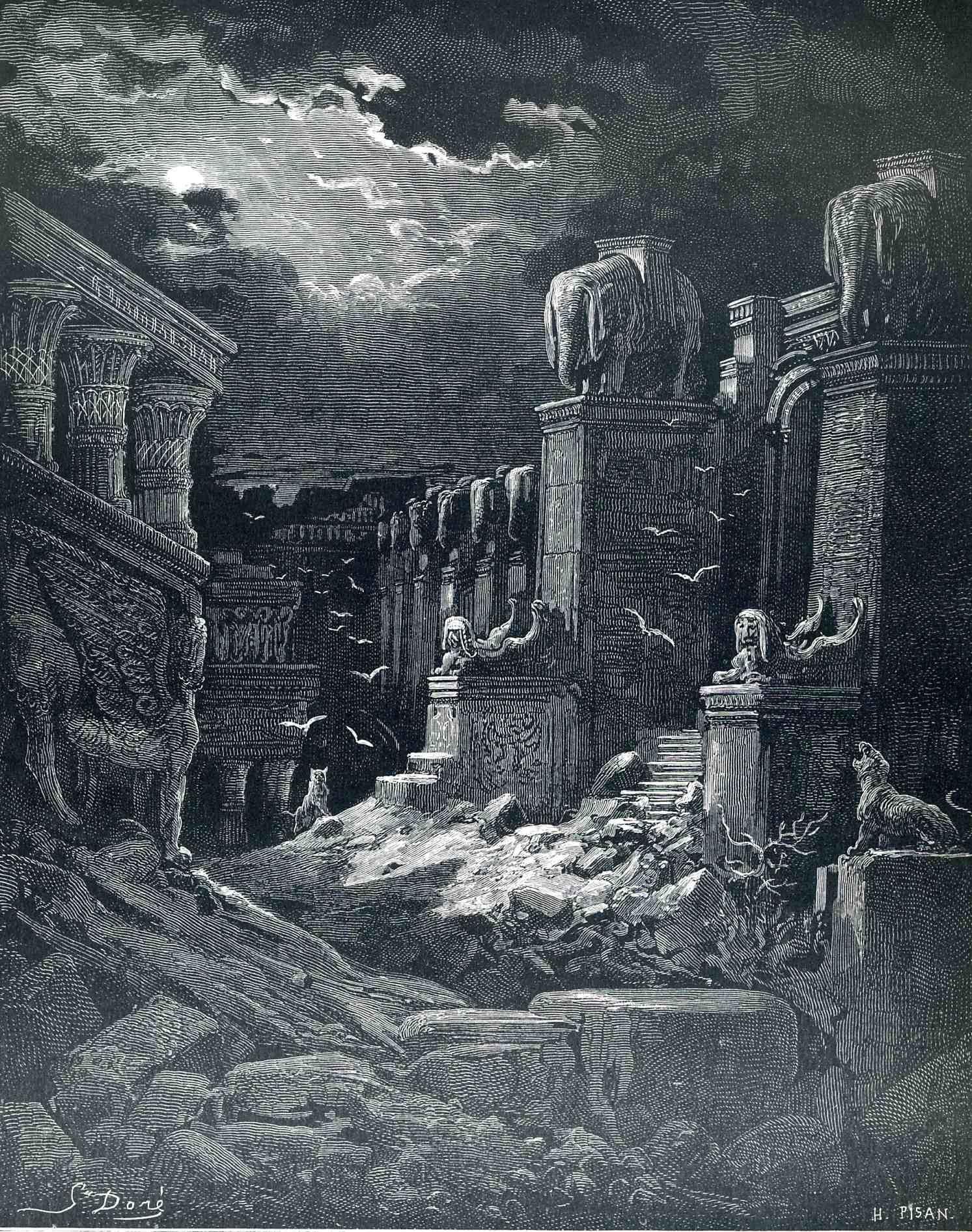 Babylon Fallen Gustave Dore Wikiart Org Gustave Dore Babylon Paul Gustave Dore