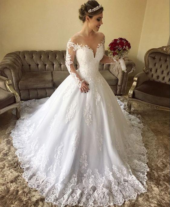 Hot Sale Classy Lace Long Sleeves Land weg von den Schultern Brautkleid, GDC1128 - hochzeitskleid4.tk - Hochzeitskleid 2019 #kleidersale