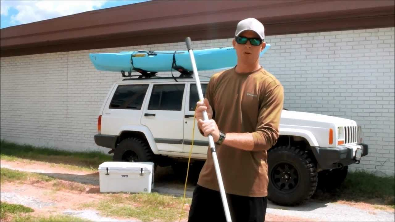 Kayak stake out pole shallow water anchor pole diy